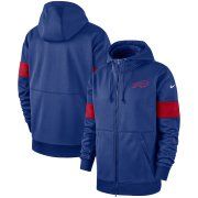 Wholesale Cheap Buffalo Bills Nike Sideline Performance Full-Zip Hoodie Royal