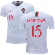 Wholesale Cheap Portugal #15 Andre Gomes Away Kid Soccer Country Jersey