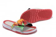 Wholesale Cheap Women's Jordan Hydro 7 Shoes Orange/green-red-white