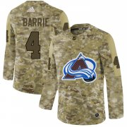 Wholesale Cheap Adidas Avalanche #4 Tyson Barrie Camo Authentic Stitched NHL Jersey