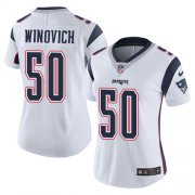 Wholesale Cheap Nike Patriots #50 Chase Winovich White Women's Stitched NFL Vapor Untouchable Limited Jersey