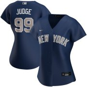 Wholesale Cheap New York Yankees #99 Aaron Judge Nike Women's Alternate 2020 MLB Player Jersey Navy