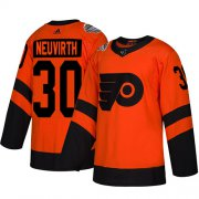 Wholesale Cheap Adidas Flyers #30 Michal Neuvirth Orange Authentic 2019 Stadium Series Stitched NHL Jersey