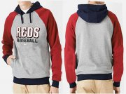Wholesale Cheap Cincinnati Reds Pullover Hoodie Grey & Red