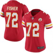 Wholesale Cheap Nike Chiefs #72 Eric Fisher Red Team Color Women's Stitched NFL Vapor Untouchable Limited Jersey