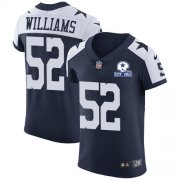 Wholesale Cheap Nike Cowboys #52 Connor Williams Navy Blue Thanksgiving Men's Stitched With Established In 1960 Patch NFL Vapor Untouchable Throwback Elite Jersey