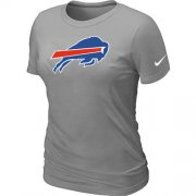 Wholesale Cheap Women's Nike Buffalo Bills Logo NFL T-Shirt Light Grey