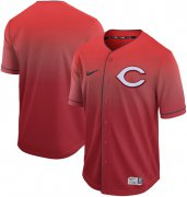 Wholesale Cheap Nike Reds Blank Red Fade Authentic Stitched MLB Jersey