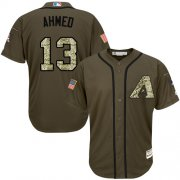 Wholesale Cheap Diamondbacks #13 Nick Ahmed Green Salute to Service Stitched MLB Jersey