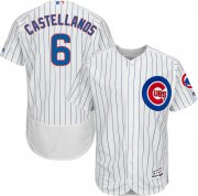 Wholesale Cheap Cubs #6 Nicholas Castellanos White Flexbase Authentic Collection Stitched MLB Jersey