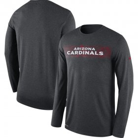 Wholesale Cheap Arizona Cardinals Nike Sideline Seismic Legend Long Sleeve T-Shirt Charcoal