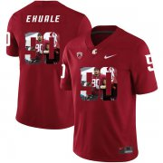 Wholesale Cheap Washington State Cougars 90 Daniel Ekuale Red Fashion College Football Jersey