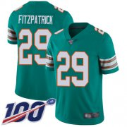 Wholesale Cheap Nike Dolphins #29 Minkah Fitzpatrick Aqua Green Alternate Men's Stitched NFL 100th Season Vapor Limited Jersey