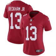 Wholesale Cheap Nike Giants #13 Odell Beckham Jr Red Alternate Women's Stitched NFL Vapor Untouchable Limited Jersey