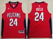 Wholesale Cheap Men's New Orleans Pelicans #24 Buddy Hield Red Stitched NBA Adidas Revolution 30 Swingman Jersey