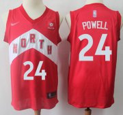 Wholesale Cheap Raptors #24 Norman Powell Red Basketball Swingman Earned Edition Jersey
