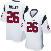 Wholesale Nike Texans #26 Lamar Miller White Youth Stitched NFL Elite Jersey