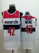 Wholesale Cheap Washington Wizards #42 Nene Hilario White Swingman Jersey