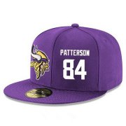 Wholesale Cheap Minnesota Vikings #84 Cordarrelle Patterson Snapback Cap NFL Player Purple with White Number Stitched Hat