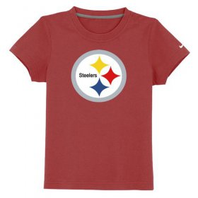 Wholesale Cheap Pittsburgh Steelers Sideline Legend Authentic Logo Youth T-Shirt Red