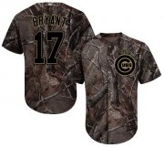 Wholesale Cheap Cubs #17 Kris Bryant Camo Realtree Collection Cool Base Stitched MLB Jersey