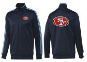 Wholesale Cheap NFL San Francisco 49ers Team Logo Jacket Dark Blue