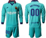 Wholesale Cheap Barcelona Personalized Third Long Sleeves Soccer Club Jersey