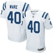 Wholesale Cheap Nike Colts #40 Spencer Ware White Men's Stitched NFL Elite Jersey