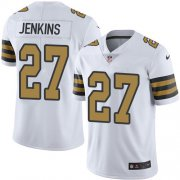 Wholesale Cheap Nike Saints #27 Malcolm Jenkins White Youth Stitched NFL Limited Rush Jersey