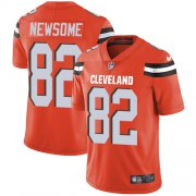 Wholesale Cheap Nike Browns #82 Ozzie Newsome Orange Alternate Men's Stitched NFL Vapor Untouchable Limited Jersey