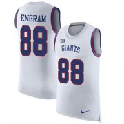 Wholesale Cheap Nike Giants #88 Evan Engram White Men's Stitched NFL Limited Rush Tank Top Jersey