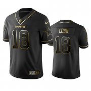 Wholesale Cheap Nike Cowboys #18 Randall Cobb Black Golden Limited Edition Stitched NFL Jersey