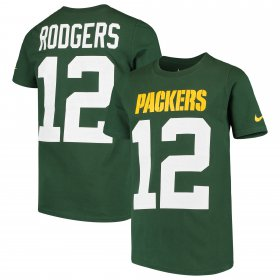 Wholesale Cheap Nike Green Bay Packers #12 Aaron Rodgers Youth Player Pride 3.0 Name & Number T-Shirt Green
