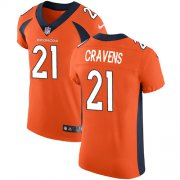 Wholesale Cheap Nike Broncos #21 Su'a Cravens Orange Team Color Men's Stitched NFL Vapor Untouchable Elite Jersey