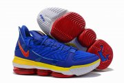 Wholesale Cheap Nike Lebron James 16 Air Cushion Shoes Superman Blue