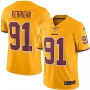 Wholesale Cheap Nike Redskins #91 Ryan Kerrigan Gold Youth Stitched NFL Limited Rush Jersey