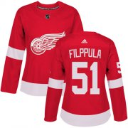 Wholesale Cheap Adidas Red Wings #51 Valtteri Filppula Red Home Authentic Women's Stitched NHL Jersey