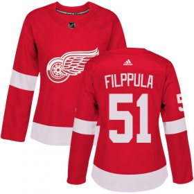 Wholesale Cheap Adidas Red Wings #51 Valtteri Filppula Red Home Authentic Women\'s Stitched NHL Jersey