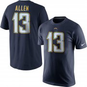 Wholesale Cheap Los Angeles Chargers #13 Keenan Allen Nike Player Pride Name & Number T-Shirt Navy