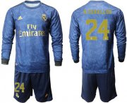 Wholesale Cheap Real Madrid #24 D.Ceballos Away Long Sleeves Soccer Club Jersey