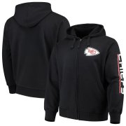 Wholesale Cheap Kansas City Chiefs G-III Sports by Carl Banks Post Route Full-Zip Hoodie Black