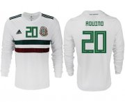 Wholesale Cheap Mexico #20 Aquino Away Long Sleeves Soccer Country Jersey