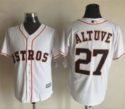 Wholesale Cheap Astros #27 Jose Altuve White New Cool Base Stitched MLB Jersey