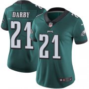 Wholesale Cheap Nike Eagles #21 Ronald Darby Midnight Green Team Color Women's Stitched NFL Vapor Untouchable Limited Jersey