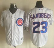 Wholesale Cheap Cubs #23 Ryne Sandberg White New Cool Base Stitched MLB Jersey