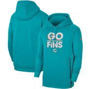Wholesale Cheap Miami Dolphins Nike Sideline Local Performance Pullover Hoodie Aqua
