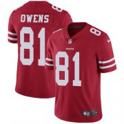 Wholesale Cheap Nike 49ers #81 Terrell Owens Red Team Color Youth Stitched NFL Vapor Untouchable Limited Jersey