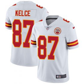 Wholesale Cheap Nike Chiefs #87 Travis Kelce White Youth Stitched NFL Vapor Untouchable Limited Jersey