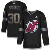 Wholesale Cheap Adidas Devils #30 Martin Brodeur Black Authentic Classic Stitched NHL Jersey