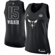 Wholesale Cheap Nike Charlotte Hornets #15 Kemba Walker Black Women's NBA Jordan Swingman 2018 All-Star Game Jersey